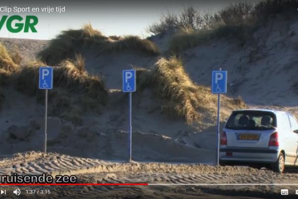 Parkeervoorziening bij strand Hoek van Holland